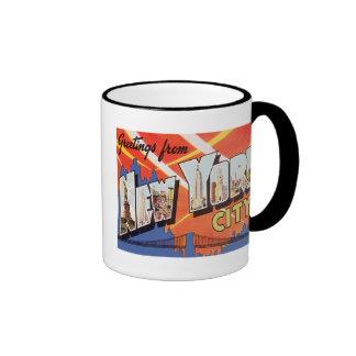 New York City Vintage Travel Ringer Mug