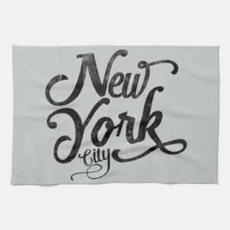 New York City vintage typography Hand Towel