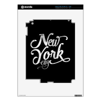 New York City vintage typography iPad 2 Decals