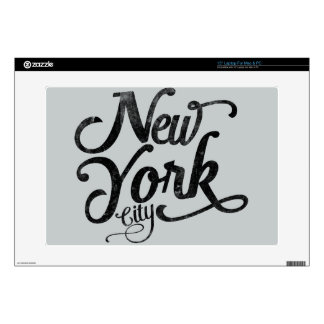 New York City vintage typography Laptop Decal
