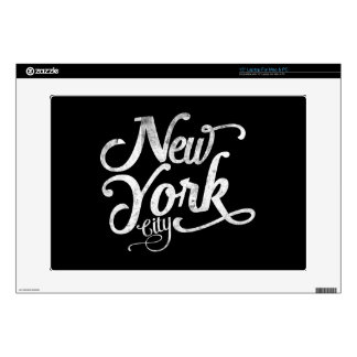 New York City vintage typography Laptop Decals