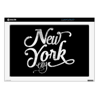 New York City vintage typography Skin For Laptop