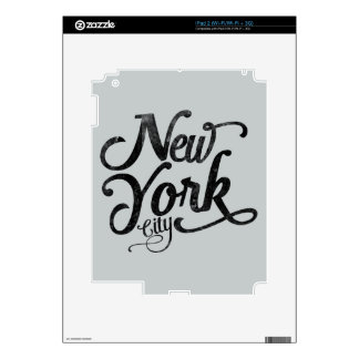 New York City vintage typography Skins For iPad 2