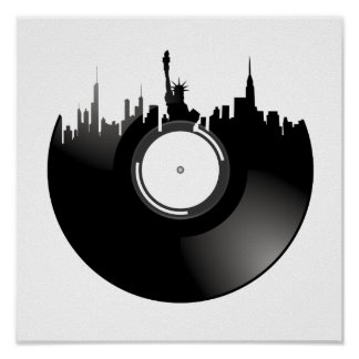 New York City Vinyl Record Poster