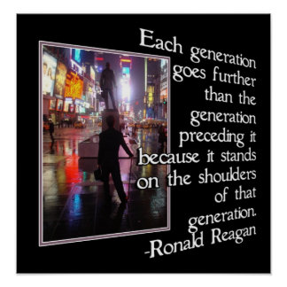 NEW YORK CITY W/ REAGAN QUOTE - FRAMED PRINT