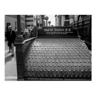 New York City Wall Street Photo in Black & White Postcard