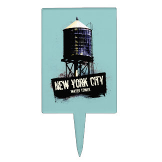 New York City Water Tower Cake Topper