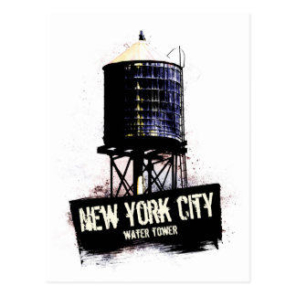New York City Water Tower Postcard