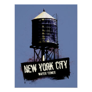 New York City Water Tower Poster Print