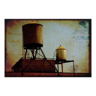 New York City Water Towers Poster