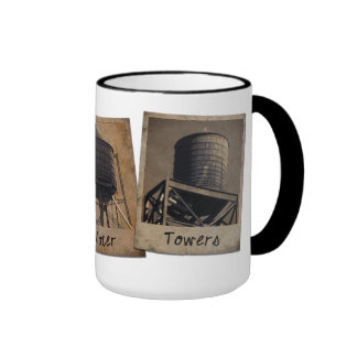 New York City Water Towers Ringer Mug