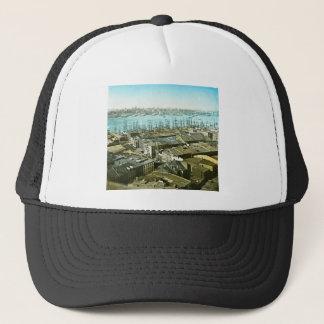 New York City Wharves 1875 Magic Lantern Slide Trucker Hat