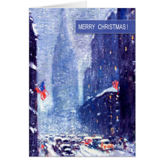 New York City.Winter.Customizable Christmas Card