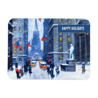 New York City.Winter. Fine Art Christmas Magnet