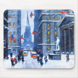 New York City.Winter. Fine Art Christmas Mousepad