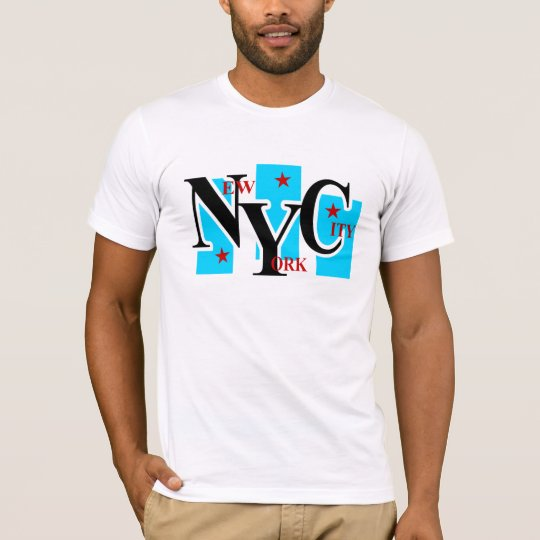 New York City With 3 Panels and Stars T-Shirt