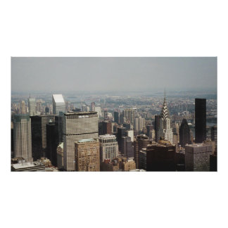 New York City with Chrysler Building Poster