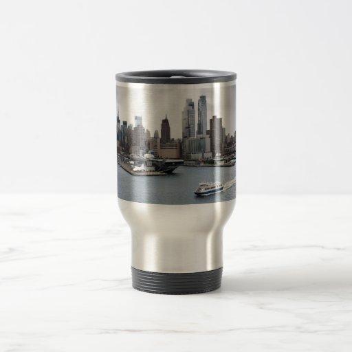 New York City with sun rays Coffee Mug
