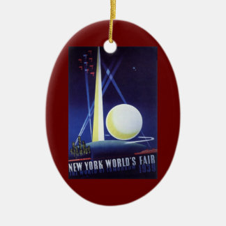 New York City World's Fair in 1939, Vintage Travel Ceramic Ornament