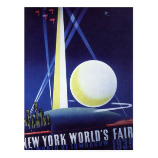 New York City World's Fair in 1939, Vintage Travel Postcard