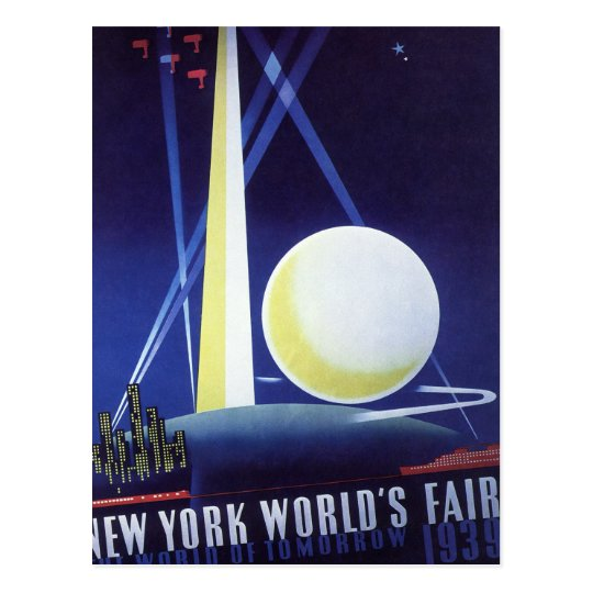 New York City World's Fair in 1939, Vintage Travel Postcard