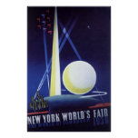New York City World's Fair in 1939, Vintage Travel Poster