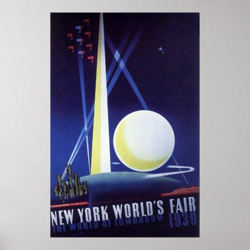 New York City World's Fair in 1939, Vintage Travel Poster