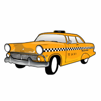 New York City Yellow Cab cartoon Cutout