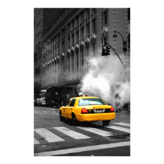 New York City Yellow Cab Stationery Paper