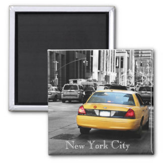 New York City yellow taxi cab Magnet