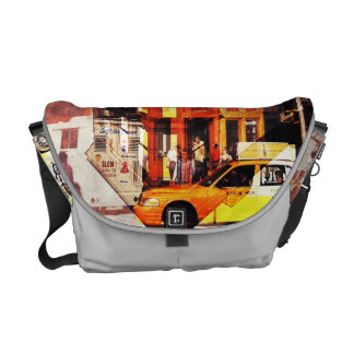 New York City yellow taxi messanger bag Courier Bag