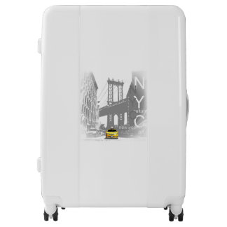 New York City Yellow Taxi Pop Art Luggage