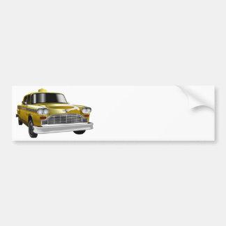 New York City Yellow Vintage Cab Car Bumper Sticker