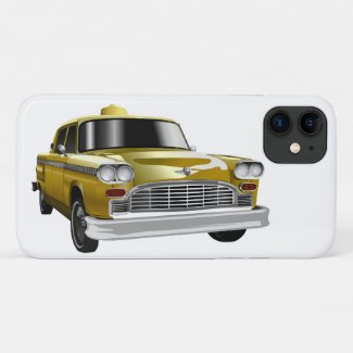 New York City Yellow Vintage Cab iPhone 11 Case