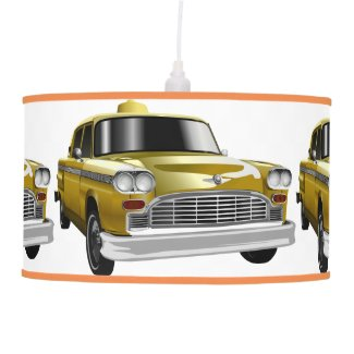 New York City Yellow Vintage Cab Ceiling Lamp