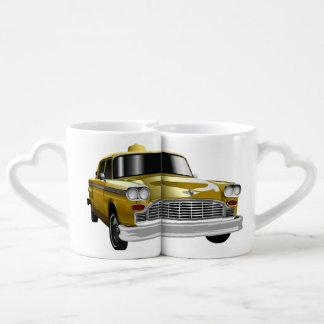 New York City Yellow Vintage Cab Coffee Mug Set
