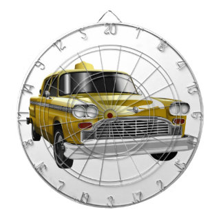 New York City Yellow Vintage Cab Dartboards