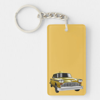 New York City Yellow Vintage Cab Keychain