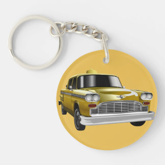 New York City Yellow Vintage Cab Keychain