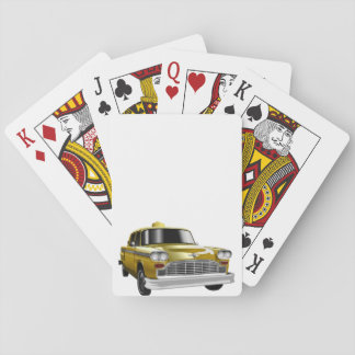New York City Yellow Vintage Cab Playing Cards