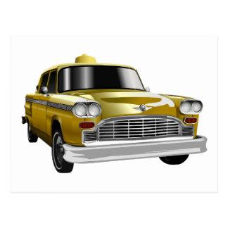 New York City Yellow Vintage Cab Postcard
