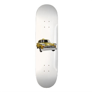 New York City Yellow Vintage Cab Skateboard