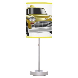 New York City Yellow Vintage Cab Table Lamp