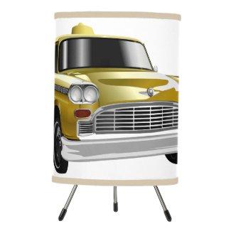 New York City Yellow Vintage Cab Tripod Lamp