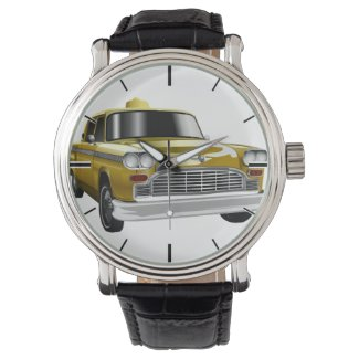 New York City Yellow Vintage Cab Watch