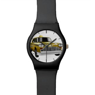 New York City Yellow Vintage Cab Wristwatch