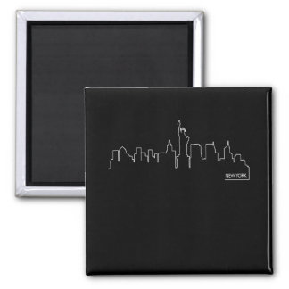 New York cityscape 2 Inch Square Magnet