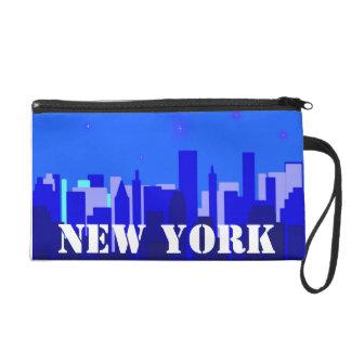 New York Cityscape Bagettes Bag Wristlet Purses