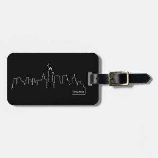 New York cityscape Bag Tag