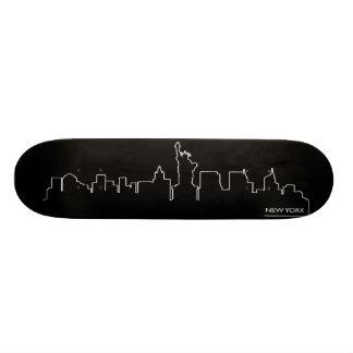 New York cityscape Skateboard